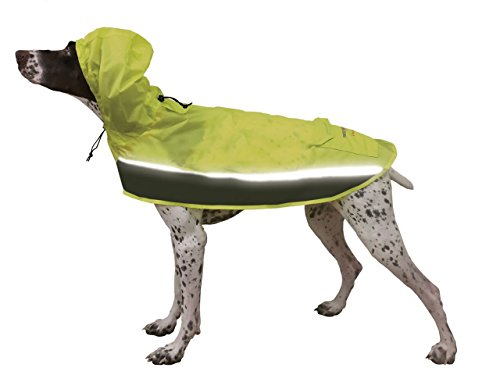 ULTRA PAWS DOG PET RAINCOAT JACKET POOCH POCKET - WATERPROOF REFLECTIVE with HOOD - SIZES XXP to XXXXL (XLarge)