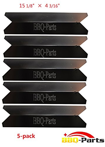 bbq-parts PPA191 (5-pack) Universal BBQ Replacement Gas Grill Porcelain Steel Heat Plate, Heat Shield, Heat Tent, Burner Cover, Vaporizor Bar, and Flavorizer Bar for Kenmore Sears 122.16119, 122.16129, 720-0341, 720-0540, Nexgrill 720-0649, Uniflame GBC956W1NG-C Model Grills (15 1/8