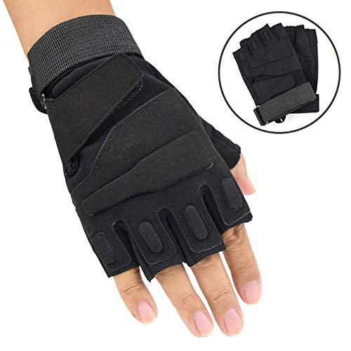 YOUZHILAN Breathable Cycling Outdoor Sports Fitness Riding Skidproof Half Finger Gloves