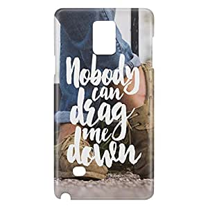 Loud Universe Galaxy Note 5 Nobody Can Drag Me Down Print 3D Wrap Around Case - Multi Color
