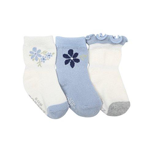Robeez Baby Girls 3-Pack Socks, pretty in
