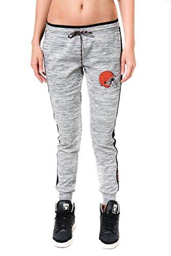 NFL Women's Cleveland Browns Jogger Pants Active Basic Fleece Sweatpants, Medium, Gray