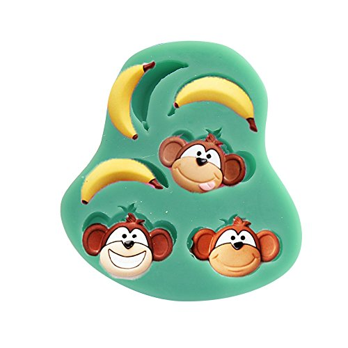 Baidecor Monkey Banana Silicone Chocolate Molds Candy Mold Set Of 3
