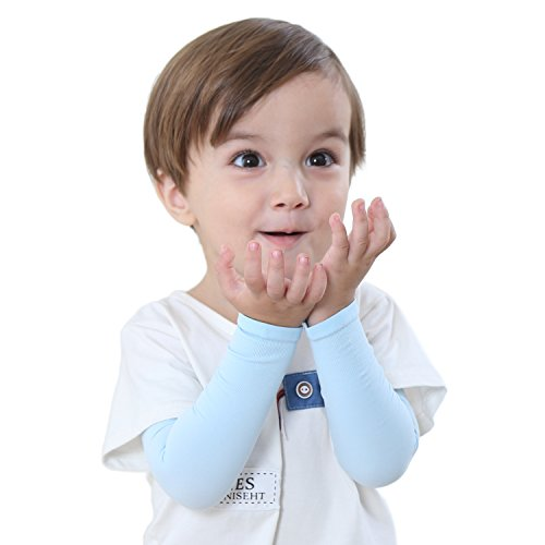Newbyinn UV Sun Protection Cooling Arm Sleeve for Kid Child Baby (Black And White Full Sleeve Tattoo Designs)