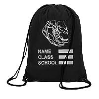Personalised PE Bag Drawstring Backpack Waterproof Gym Swim School Sports Bag