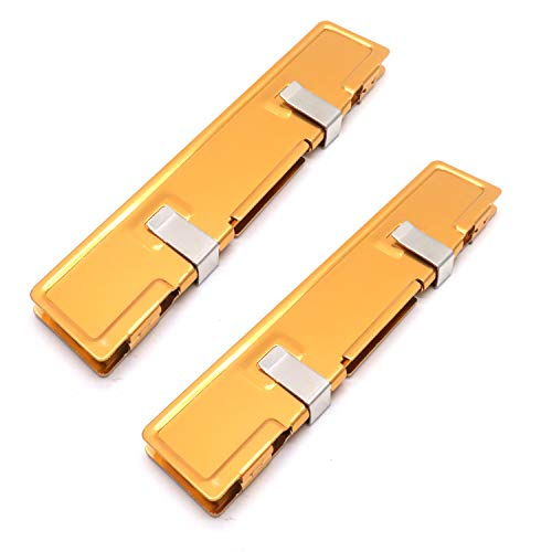 Yohii 2Pcs Gold Tone Aluminum Memory Heat Sink Shim Cooler Spreader for DDR SDR RAM (Ram Heat Spreader)
