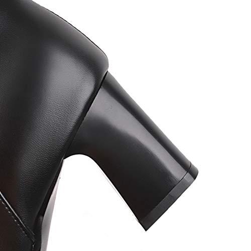Noir Couleur Aalardom Haut Bas Unie Talon Tsfxh110177 Bottes Correct Bottes Femme À SPFxqF4Z