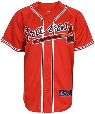 timeless design 70b6a 785bb Amazon.com : MLB Men's Atlanta Braves Chipper Jones Scarlet ...