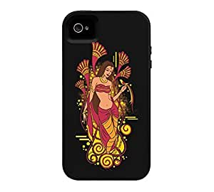 beauty and bird iPhone 4/4s Black Tough Phone Case - Design By Humans