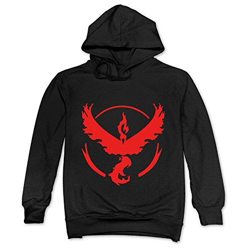 Price comparison product image ITMEIAL Men's Pokemon Go Team Valor Hoodie Black XL