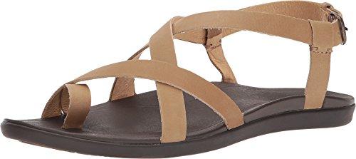 (OLUKAI Womens Upena Gladiator Sandal, Golden Sand, 11 B(M))