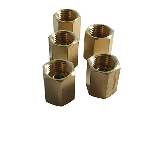 ASD Fuel or Transmission Line Unions For 5/16'' Tube (1/2'' - 20 Thread, Inverted Flare) (Pack of 5) by Auto Supplies Direct
