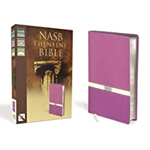 NASB, Thinline Bible, Leathersoft, Purple/Cream, Red Letter Edition