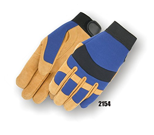 (12 Pair) Majestic REVERSE COWSKIN PALM GLOVES WITH KNIT BACK & LARGE - LARGE, GOLD(2154/10) by MAJESTIC (Image #1)