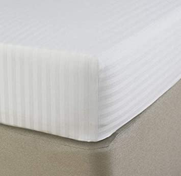 Acrilan Bedding Premium Quality 1 Piece Fitted Sheet Extra Long Fit Upto 15 inches Deep Pocket 600 Thread Count 100/% Pure Egyptian Cotton Solid Pattern Twin XL Ivory Bottom Sheet Only