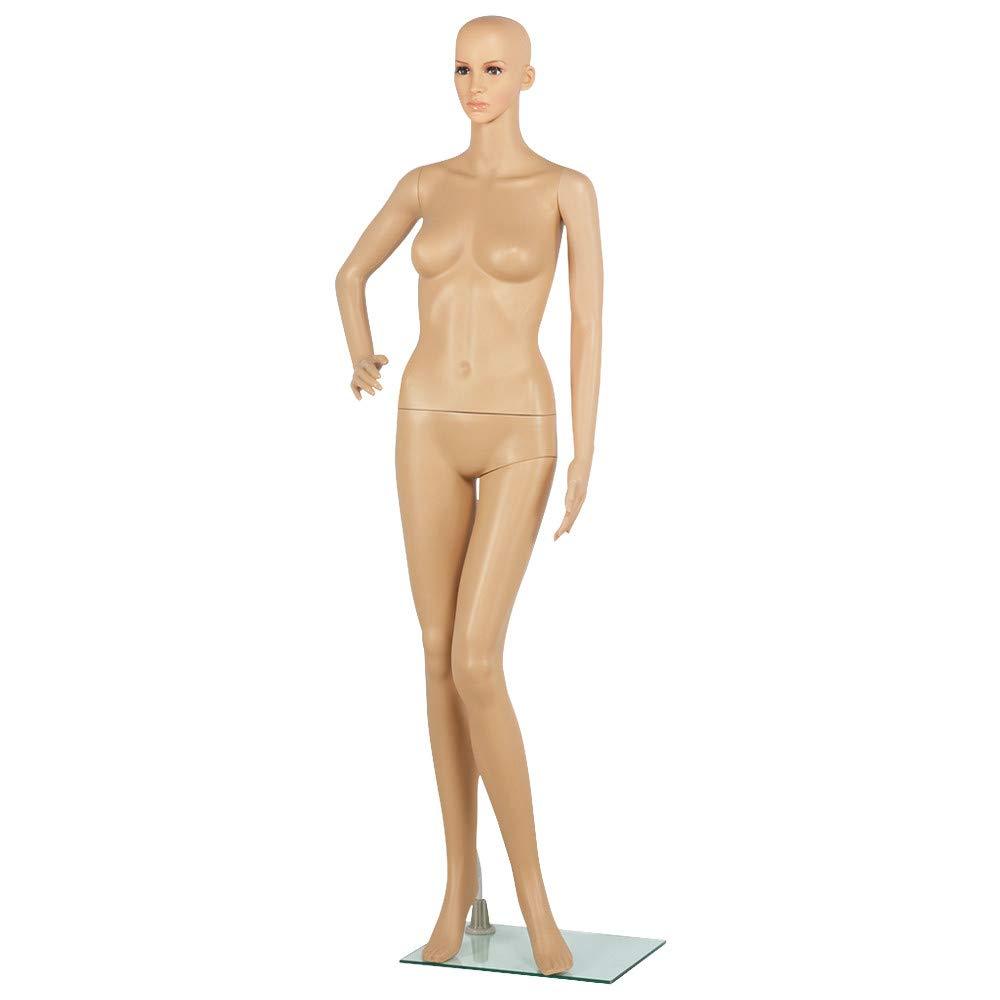 Yaheetech Full Female Mannequin Slapped Dressmaker Dummy Adjustable Detachable 68.9'' Height w/Base by Yaheetech