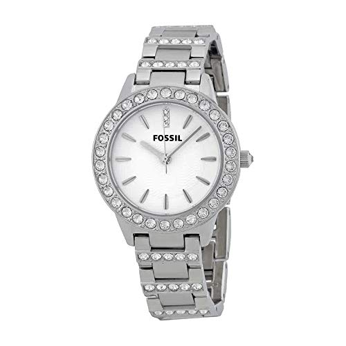 Bracelet Steel Womens Fossil Stainless (Fossil Women's ES2362 Stainless Steel Bracelet Silver Glitz Analog Dial Watch)