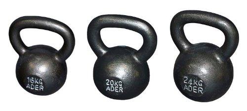 Ader Premier Kettlebell Set- (16, 20, 24kg) w/ DVD by Ader Sporting Goods