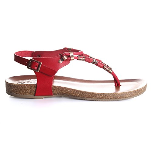 Rojo Para Sandalia Mujer Porronet 2 wUWxIO