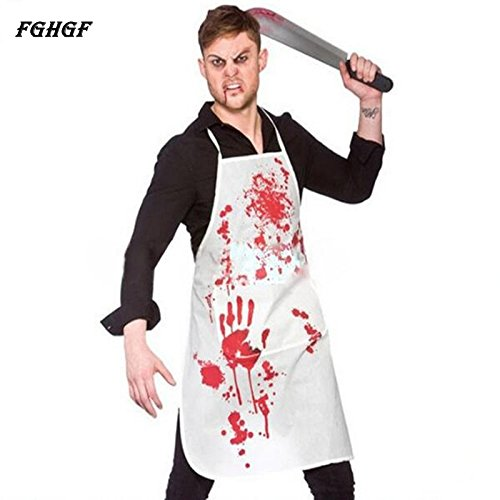 Zytree(TM) Halloween Adult Bloody Butcher Role Play Blood Aprons Horror Dress Up Party Props (Cute Joker Costumes)