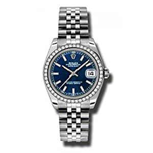 Rolex Datejust Blue Dial Women's Watch 178384