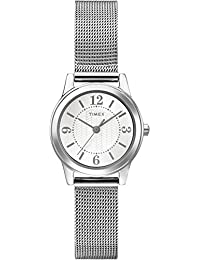 Timex T2P457GP Women's Dress Sliver Face and Silver Stainless Steel Mesh Bracelet Wrist Watch