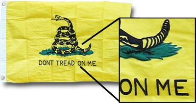 Heavy Duty Gadsden Cotton Flag- 3 x 5