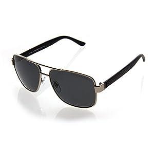 NYS Collection Belmont Avenue Aviator Sunglasses, Silver Frame/Smoke Lens