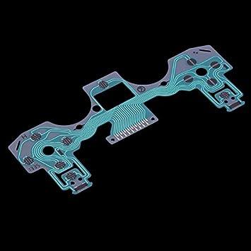 12.9 * 4.9cm / 1.9in 5 * Instalación Simple película conductora Teclado para la Pieza de reparación de Playstation 4 para PS4 Controlador: Amazon.es: ...