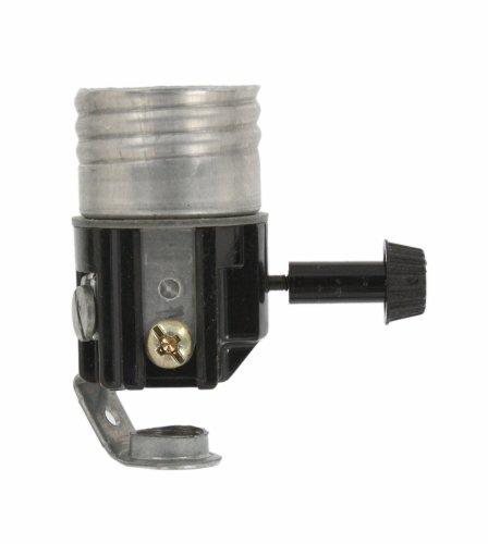 Turn Knob Lamp Socket (Leviton 7069 Incandescent Lampholder, Candle, Medium Base, 250W-250V, Removable Turn-Knob, Bracket Assembled, Controls Two Lamps)