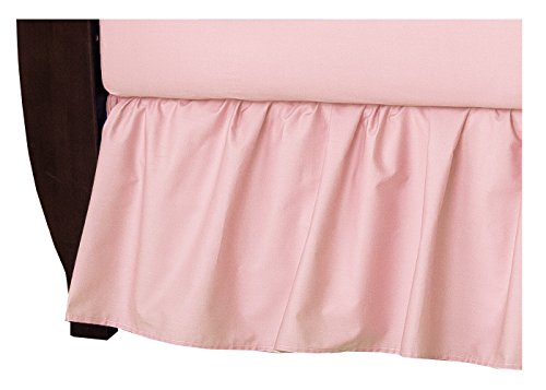 American Baby Company 100% Natural Cotton Percale Ruffled Crib Skirt, Blush Pink, Soft Breathable, for Girls (Best Peachy Pink Blush)