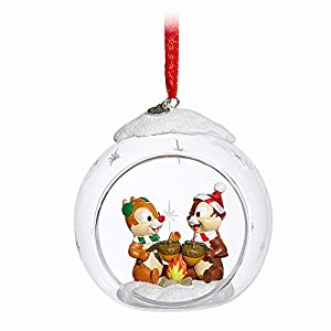 Disney Chip 'n Dale Glass Globe Sketchbook Ornament