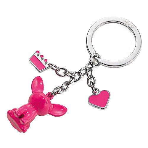 Troika Pink Chihuahua Key Ring (KR1422PK) ()