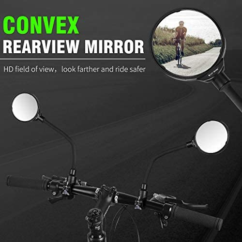 1x Foldable MTB Mountain Bike Rearview Mirror Bicycle Handlebar Convex Rear V #Z