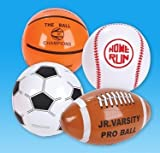 Rhode Island Novelty 16'' Sports Ball Inflates Assortment may very (12 Pack)