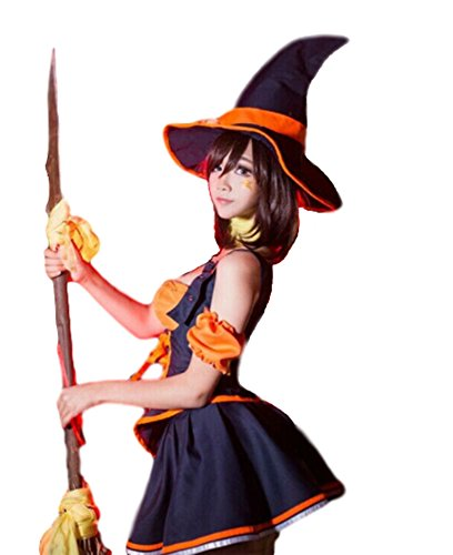 Cute Plus Size Witch Costumes (Pomm Wien Witch costume for women Halloween cosplay Socks Set (XL (Asia Size)))