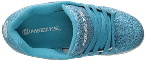 Big US M Heelys 4 Girls' Glitter Split Sneaker Blue Disco Kid SzSAO1qRn