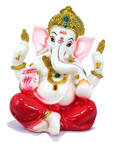 Raadhe creation Marble Lord Ganesha Idol God Ganpati/Ganesh Handicraft Statue Spiritual Puja Vastu Showpiece Fegurine…