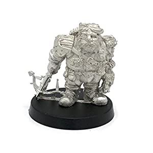 Stonehaven Dwarf Mechanist Miniature Figure (for 28mm Scale Table Top War Games) – Made in USA