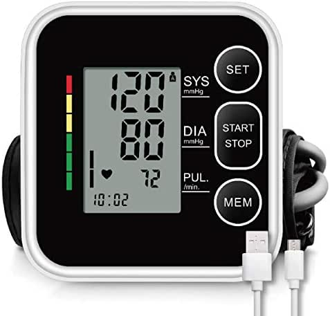 CAZON Blood Pressure Monitor Cuff Upper Arm FDA Approved Automatic BP Machine Digital Home Blood Pressure Monitoring Meter 2x120 Memory Hypertension Detector