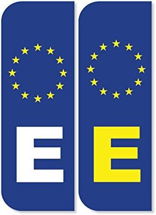 2 x e España Euro Número de matrícula coche pegatinas: Amazon.es: Coche y moto