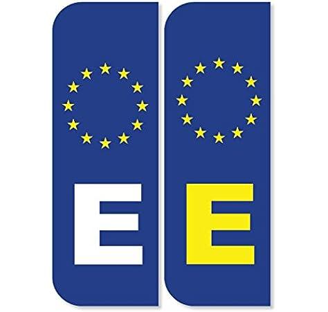 2 x e España Euro Número de matrícula coche pegatinas: Amazon.es ...