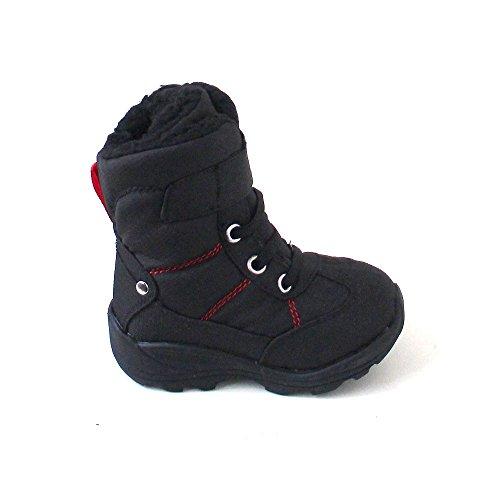 Kamik Unisex-Kinder Snowman Schneestiefel schwarz/rot