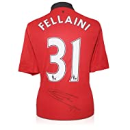 5e2a5302bfb Marouane Fellaini Signed Manchester United Soccer Jersey ...