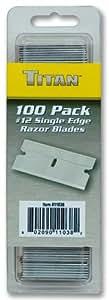 Titan Tools 11038 #12 Single Edge Razor Blade - 100 Piece