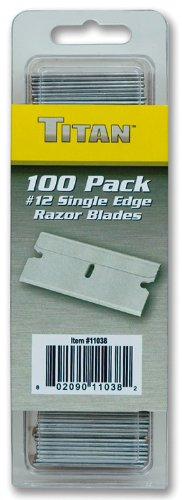 Titan Tools 11038 #12 Single Edge Razor Blade - 100 Piece (Titan Single)