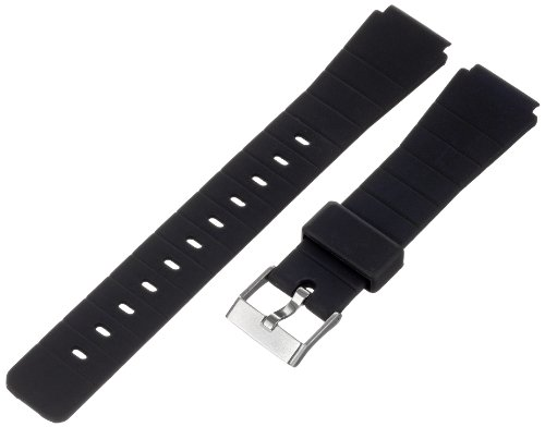 Timex Men's Q7B724 Resin Performance Sport 16mm Black Replacement Watchband (Ironman Watch Band Replacement)