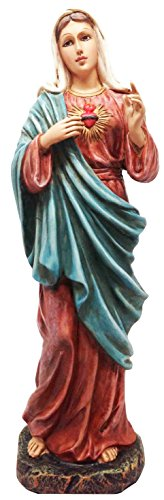 Immaculate Heart Statue - Catholic Devotion Sacred Heart of Mary Statue Immaculate Compassion Of Madonna Figurine