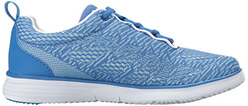 Propet TravelFit White Blue Pro Walking Shoe Women's rg8qwr
