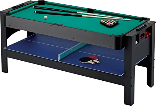 Fat Cat Original 3-in-1, 6-Foot Flip Game Table (Air Hockey, Billiards and Table Tennis)